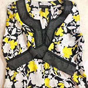 Lane Bryant Womens Blouse 14-16 Yellow Floral Top